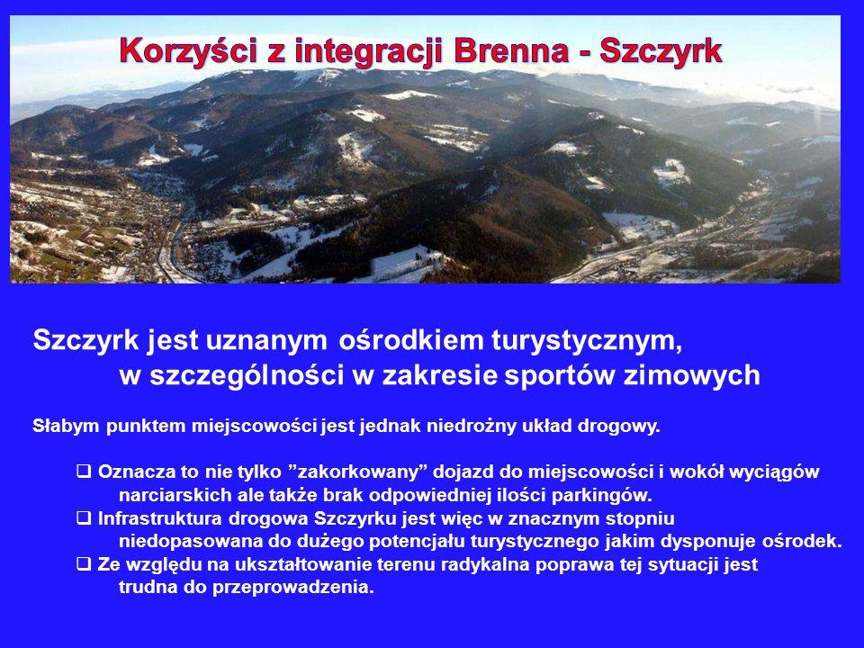 Szczyrk jest uznanym ośrodkiem turystycznym, w szczególności w zakresie sportów zimowych Słabym punktem miejscowości jest jednak niedrożny układ drogo