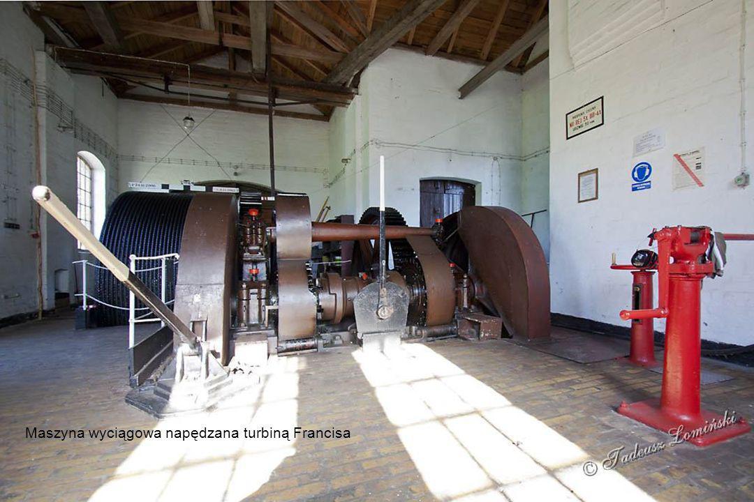 Maszynownia pochylni Całuny Maszyna wyciągowa napędzana turbiną Francisa