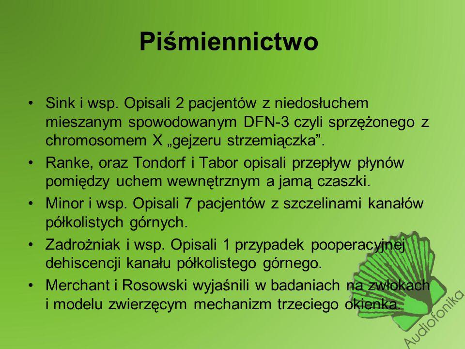 Piśmiennictwo Sink i wsp.