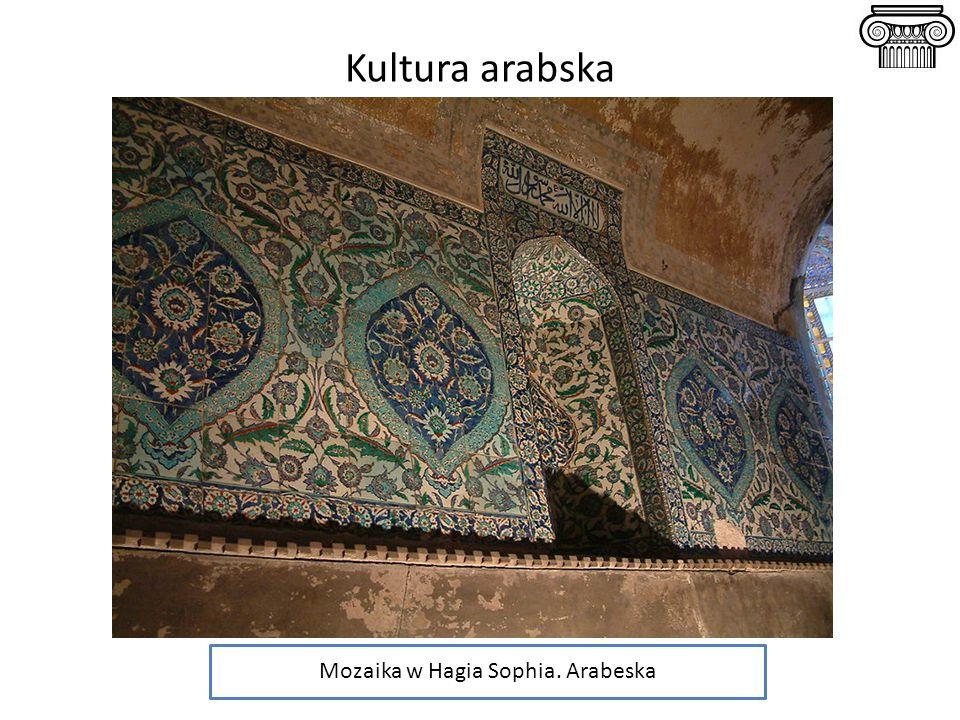 Kultura arabska Mozaika w Hagia Sophia. Arabeska
