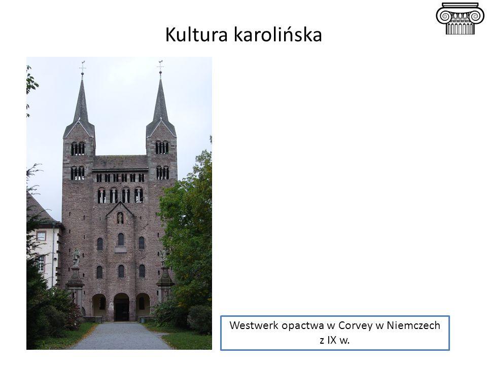 Kultura karolińska Westwerk opactwa w Corvey w Niemczech z IX w.