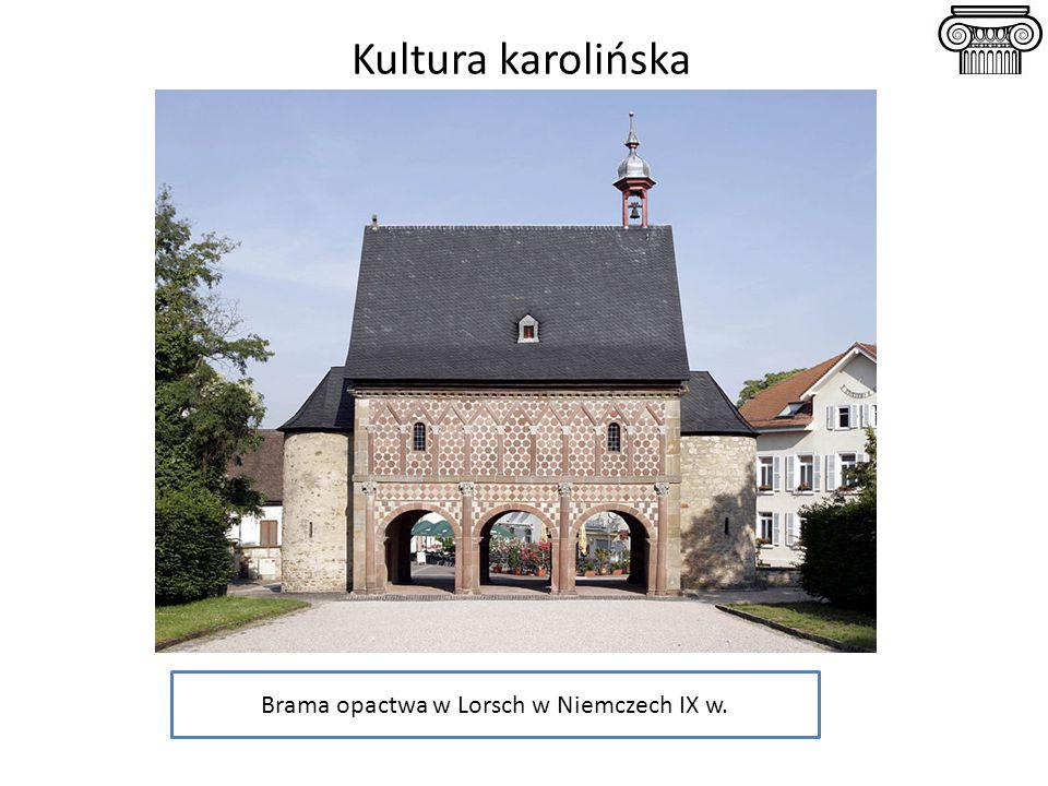 Kultura karolińska Brama opactwa w Lorsch w Niemczech IX w.