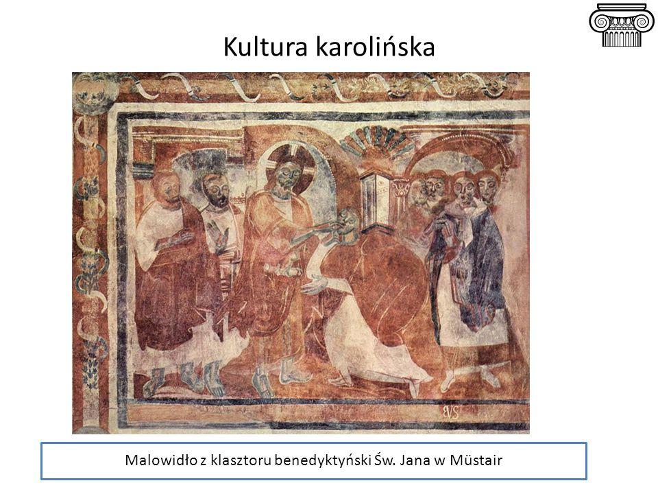 Malowidło z klasztoru benedyktyński Św. Jana w Müstair Kultura karolińska