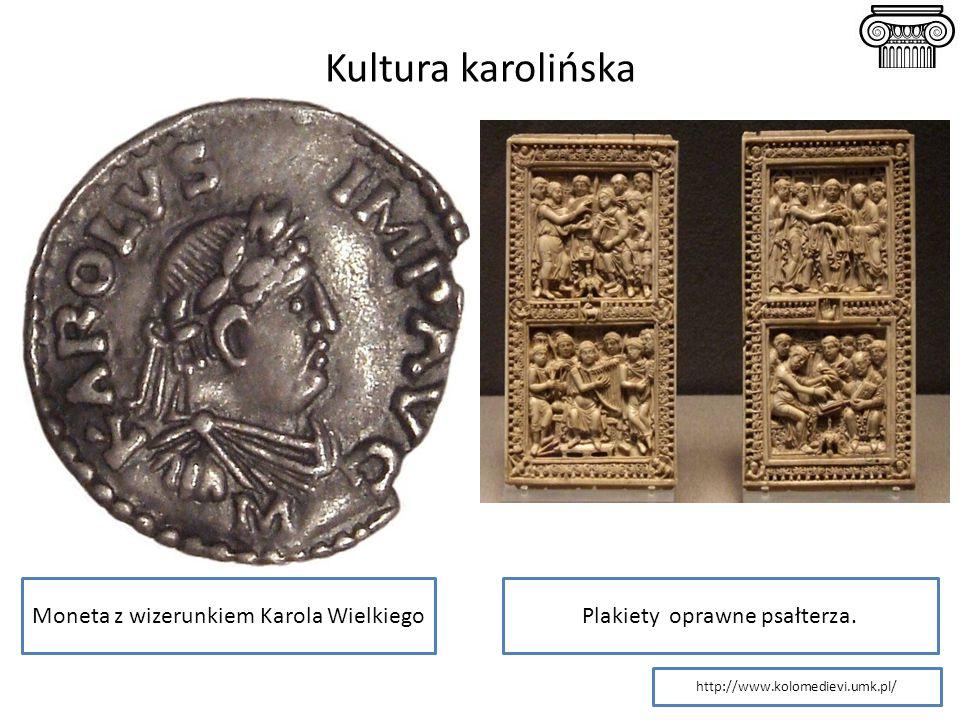 Moneta z wizerunkiem Karola WielkiegoPlakiety oprawne psałterza. http://www.kolomedievi.umk.pl/