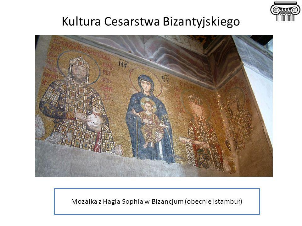 Kultura Cesarstwa Bizantyjskiego Mozaika z Hagia Sophia w Bizancjum (obecnie Istambuł)