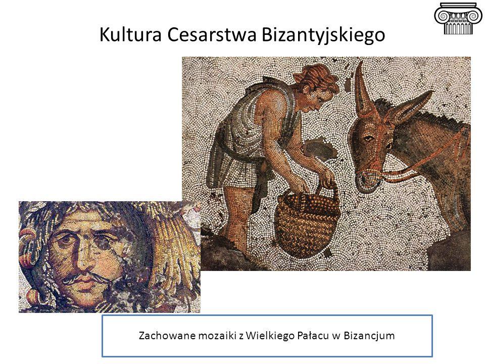 Kultura Cesarstwa Bizantyjskiego Zachowane mozaiki z Wielkiego Pałacu w Bizancjum