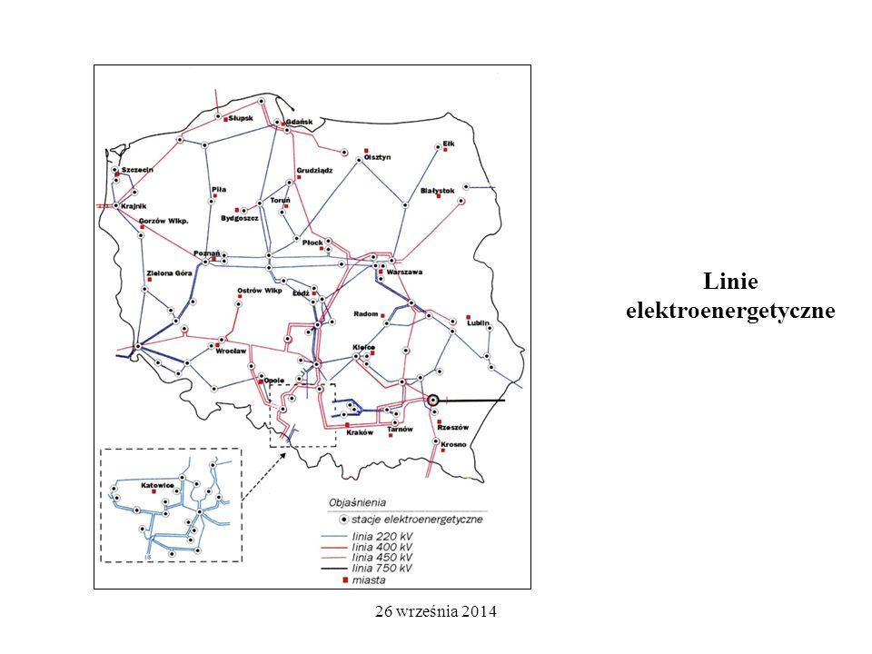 26 września 2014 Linie elektroenergetyczne