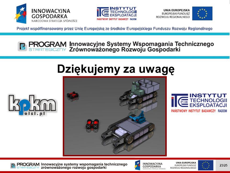Dziękujemy za uwagę Wielozadaniowe mobilne roboty … II.4.1 23/27 Wielozadaniowe mobilne roboty … II.4.1 23/25