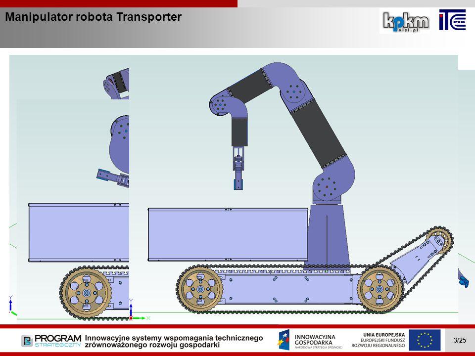Manipulator robota Transporter Zakres działania Wielozadaniowe mobilne roboty … II.4.1 4/27Wielozadaniowe mobilne roboty … II.4.1 4/27 Wielozadaniowe mobilne roboty … II.4.1 4/27 Wielozadaniowe mobilne roboty … II.4.1 4/25