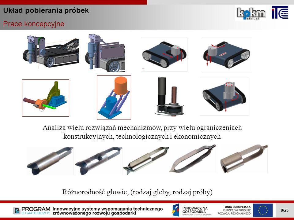 Układ pobierania próbek Prace koncepcyjne Wielozadaniowe mobilne roboty … II.4.1 8/27 Wielozadaniowe mobilne roboty … II.4.1 8/27 Wielozadaniowe mobil