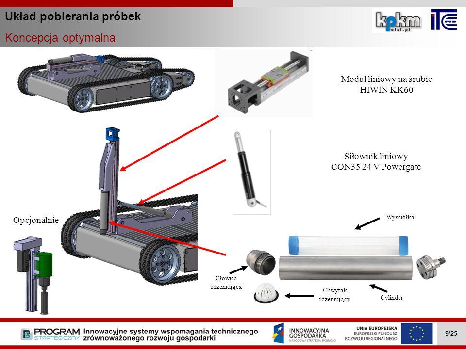 Układ pobierania próbek Koncepcja optymalna Wielozadaniowe mobilne roboty … II.4.1 9/27 Wielozadaniowe mobilne roboty … II.4.1 9/27 Wielozadaniowe mob