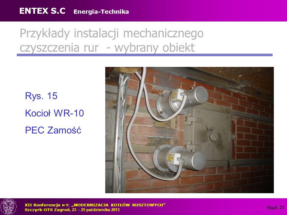 Slajd 26 Doświadczenia eksploatacyjne instalacji mechanicznego czyszczenia – OR-32 Rys.