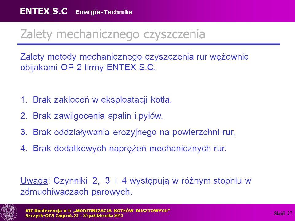 Slajd 28 Doświadczenia z eksploatacji instalacji mechanicznego czyszczenia – OR-32 Rys.