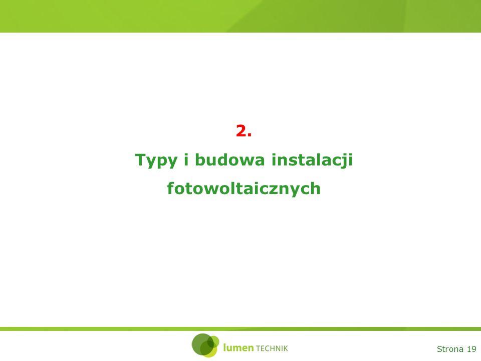 Strona 19 2. Typy i budowa instalacji fotowoltaicznych