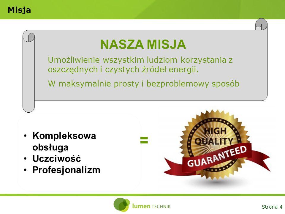 Strona 5 Lumen Technik w pigułce Lider rynku energetyki słonecznej w Polsce Sprzedaż ponad 2500 zestawów w 2013 roku Ponad 2000 zrealizowanych montaży 30 sprawdzonych ekip montażowych w całej Polsce