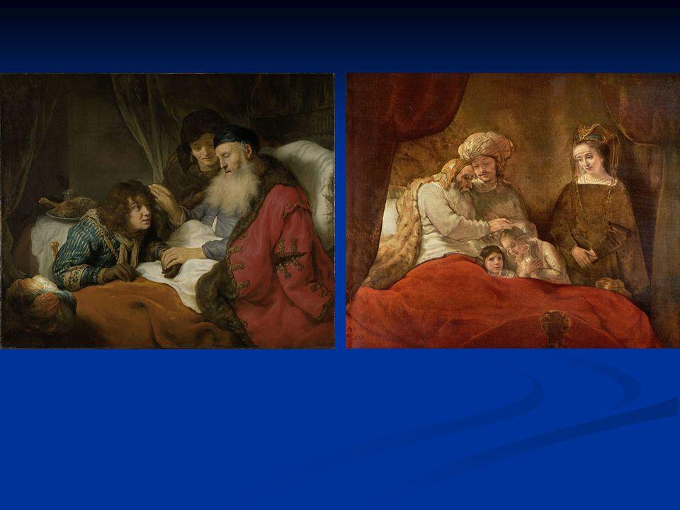 """""""Izaak błogosławiący Jakuba – obraz olejny holenderskiego malarza epoki baroku Goverta Flincka, ucznia Rembrandta"""