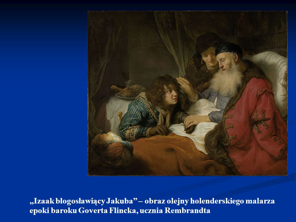 """""""Jakub błogosławiący swoje wnuki obraz holenderskiego malarza Rembrandta Harmenszoona van Rijn"""