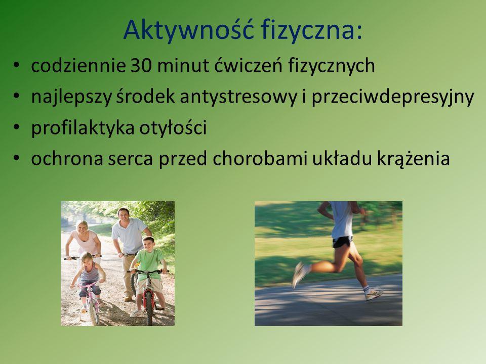 Aktywność fizyczna: codziennie 30 minut ćwiczeń fizycznych najlepszy środek antystresowy i przeciwdepresyjny profilaktyka otyłości ochrona serca przed