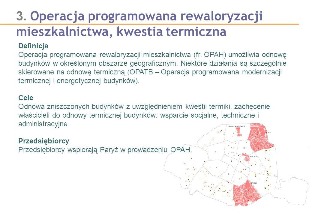3. Operacja programowana rewaloryzacji mieszkalnictwa, kwestia termiczna Definicja Operacja programowana rewaloryzacji mieszkalnictwa (fr. OPAH) umożl