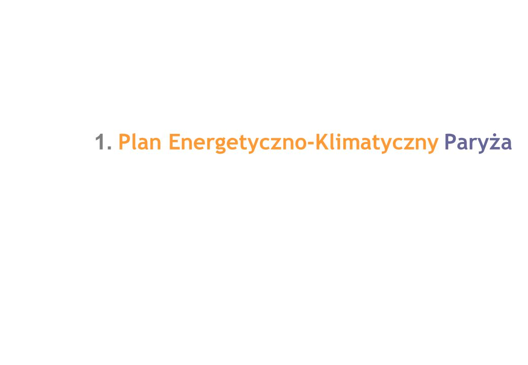 1. Plan Energetyczno-Klimatyczny Paryża