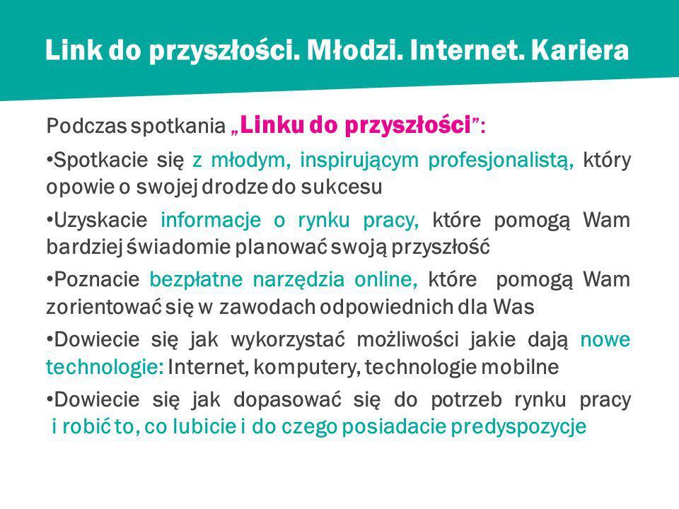 Link do przyszłości.Młodzi. Internet.