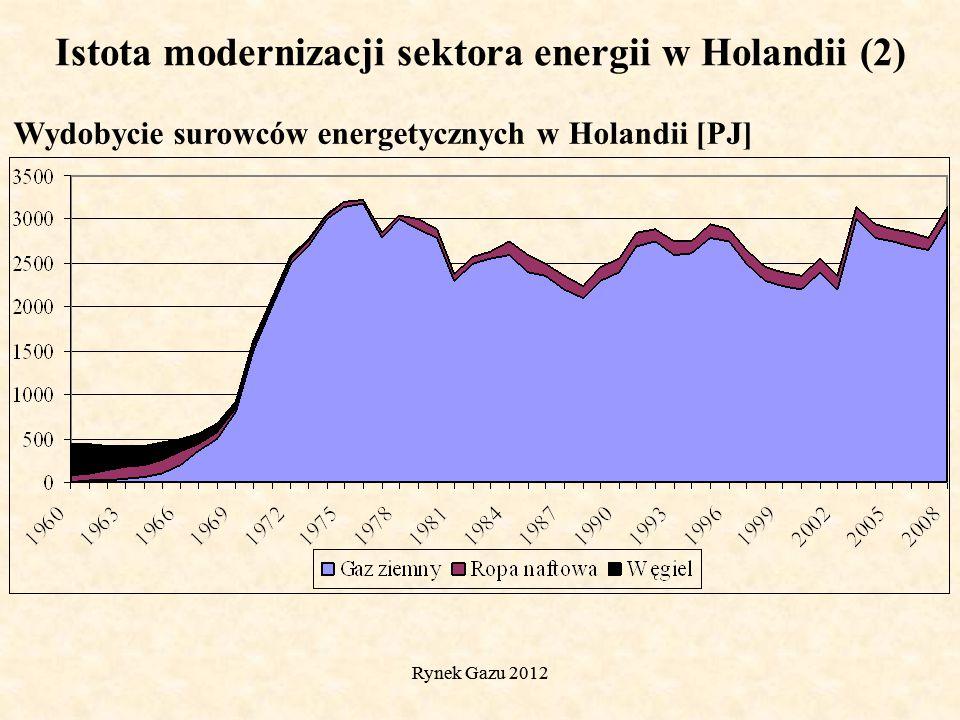 Rynek Gazu 2012 Struktura źródeł energii pierwotnej w Holandii w latach 1965-2010 Istota modernizacji sektora energii w Holandii (3)