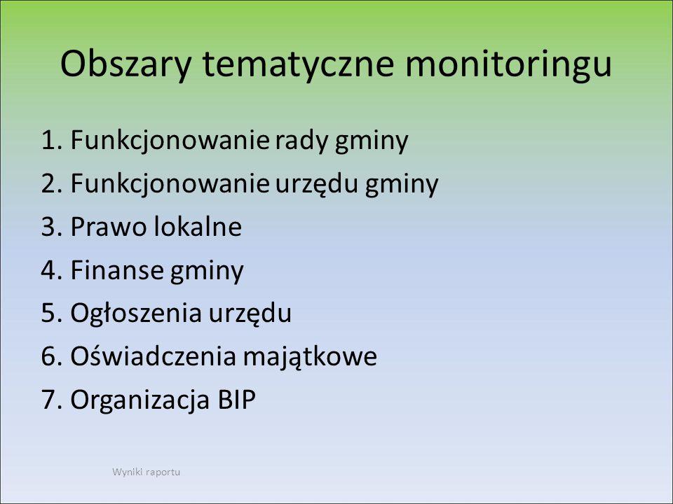 Indeks przejrzystości BIP, pierwsze 25 urzędów (dane w %) Wyniki raportu