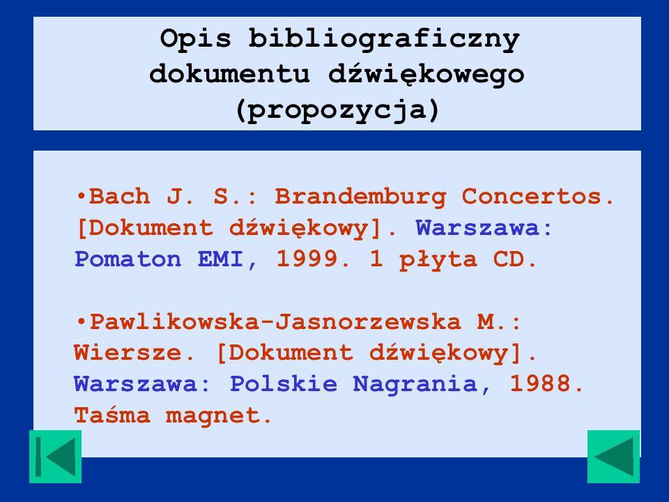 Bach J. S.: Brandemburg Concertos. [Dokument dźwiękowy].