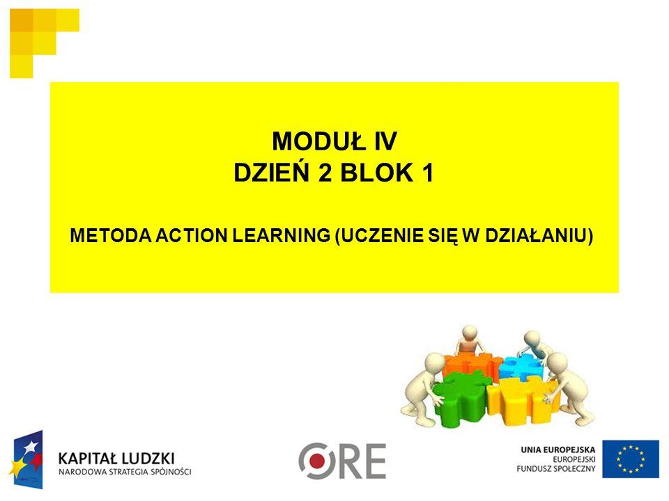 MODUŁ IV DZIEŃ 2 BLOK 1 METODA ACTION LEARNING (UCZENIE SIĘ W DZIAŁANIU)