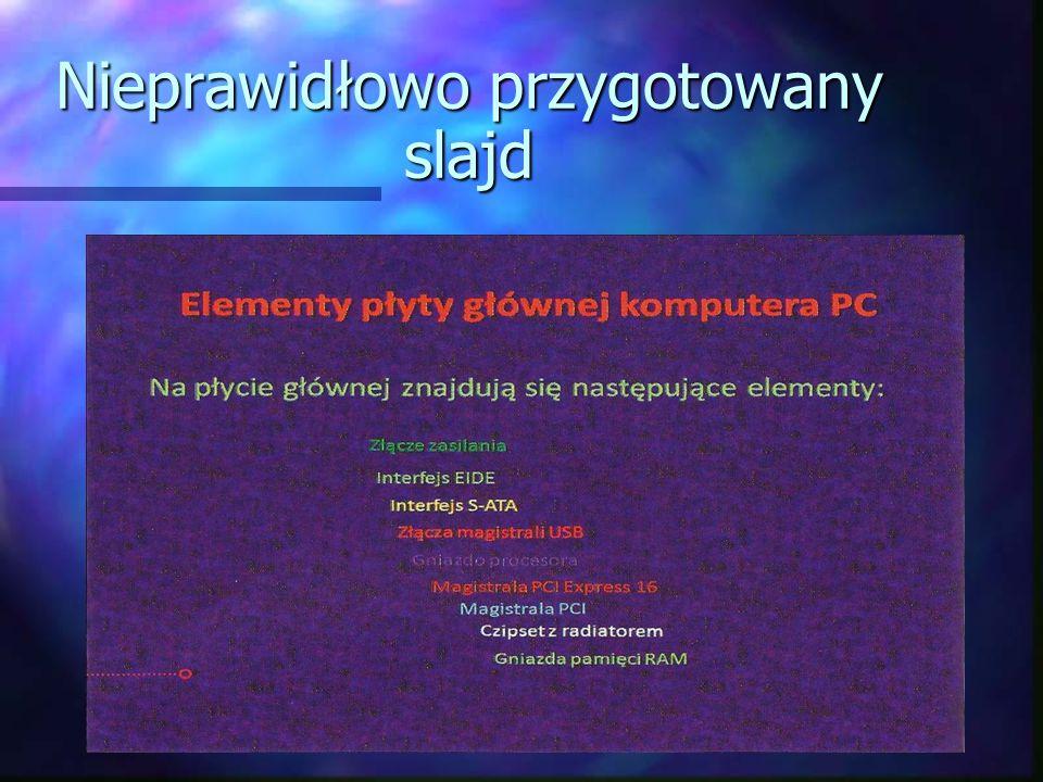 Prawidłowo wykonany slajd