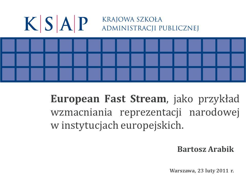 European Fast Stream, jako przykład wzmacniania reprezentacji narodowej w instytucjach europejskich.