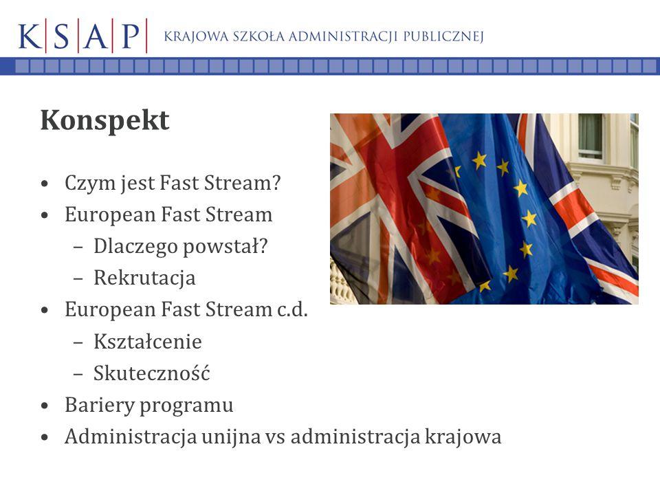 Konspekt Czym jest Fast Stream. European Fast Stream –Dlaczego powstał.