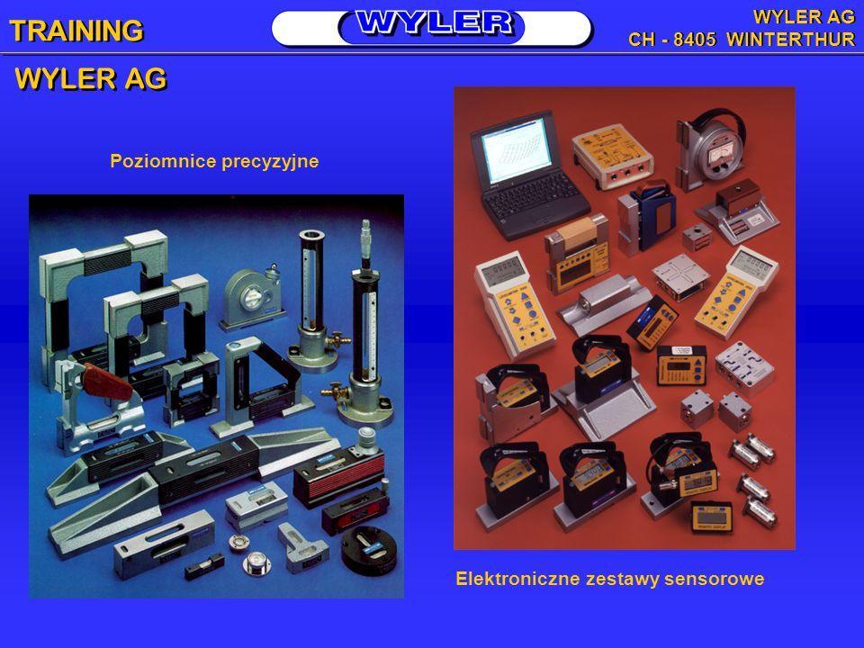WYLER AG Poziomnice precyzyjne Elektroniczne zestawy sensorowe TRAINING WYLER AG CH - 8405 WINTERTHUR WYLER AG CH - 8405 WINTERTHUR