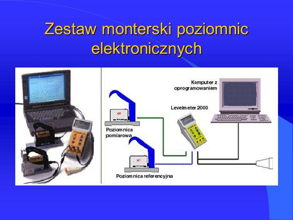 Zestaw monterski poziomnic elektronicznych