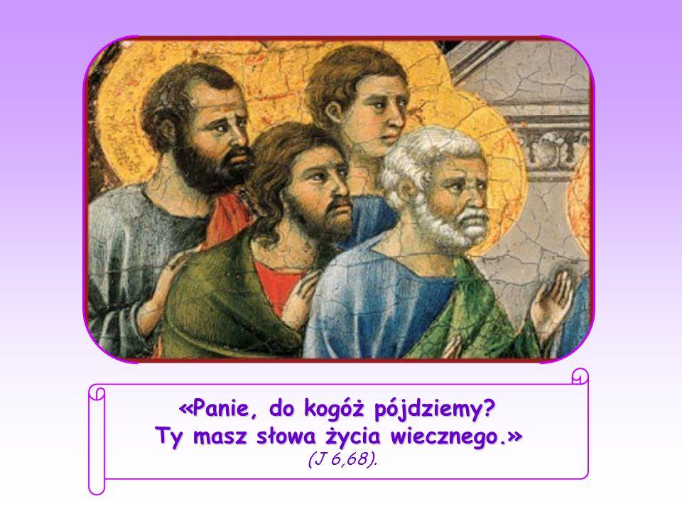 Jezus widząc, że uczniowie wycofują się i przestają Mu towarzyszyć, zwraca się do dwunastu Apostołów: Czyż i wy chcecie odejść? Piotr, którego serce Jezus zdobył już nieodwracalnie, zafascynowany słowami, które usłyszał w dniu, kiedy Go spotkał, odpowiedział w imieniu wszystkich: