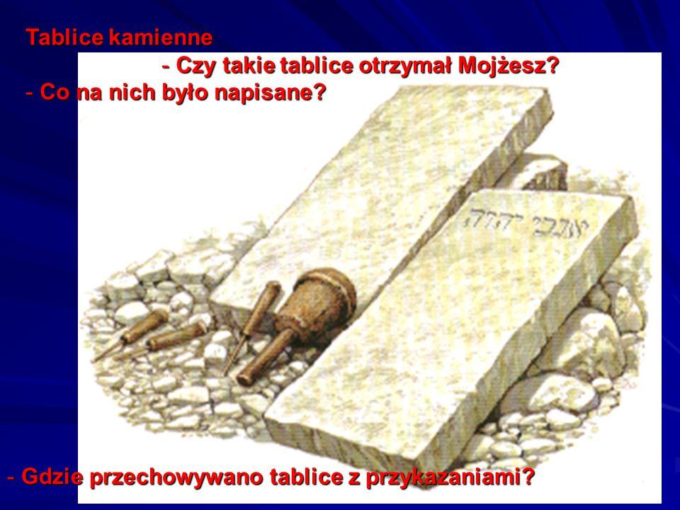 Tablice kamienne - Czy takie tablice otrzymał Mojżesz.