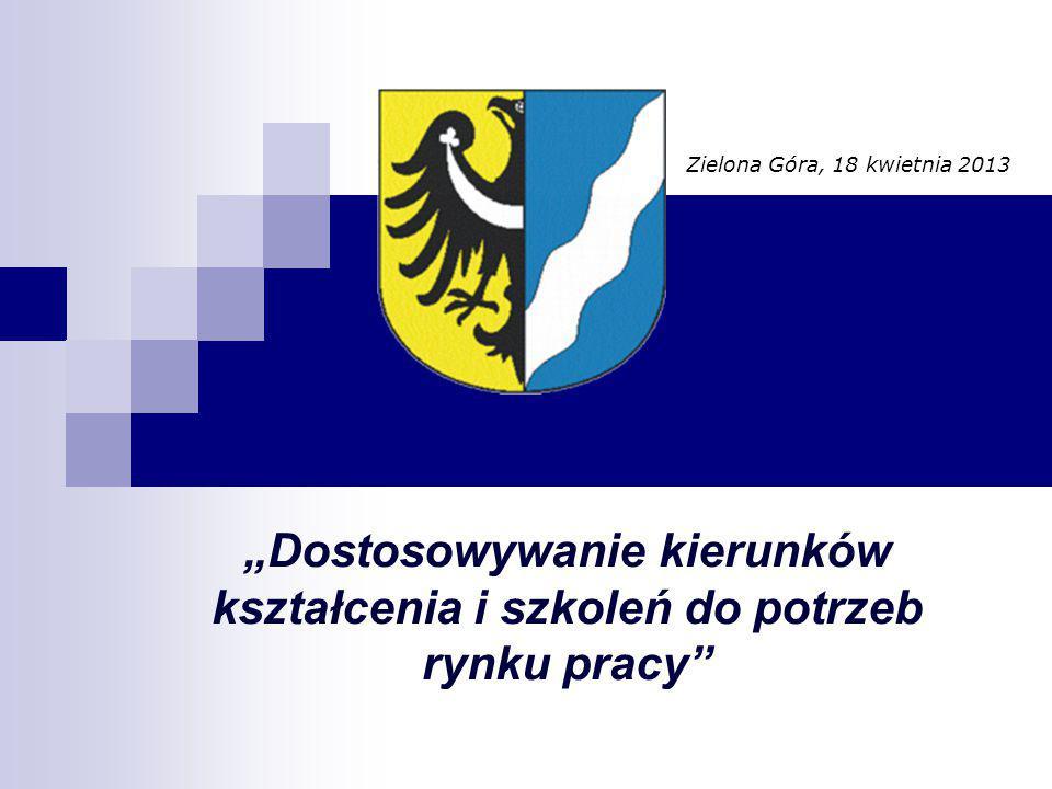 """""""Dostosowywanie kierunków kształcenia i szkoleń do potrzeb rynku pracy Zielona Góra, 18 kwietnia 2013"""