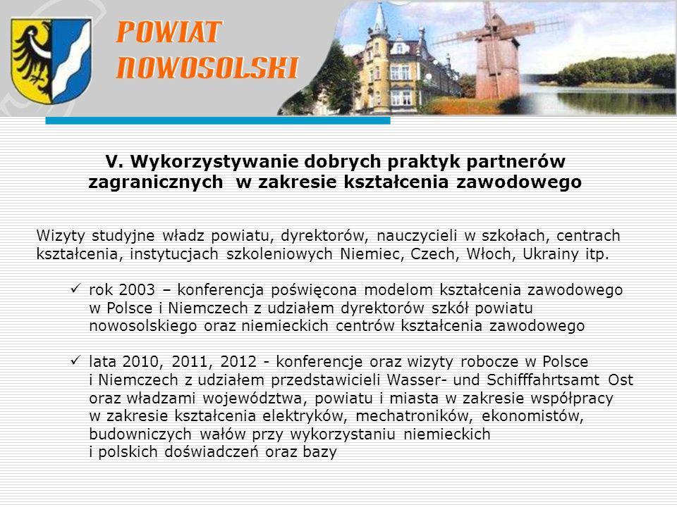 Wizyty studyjne władz powiatu, dyrektorów, nauczycieli w szkołach, centrach kształcenia, instytucjach szkoleniowych Niemiec, Czech, Włoch, Ukrainy itp.
