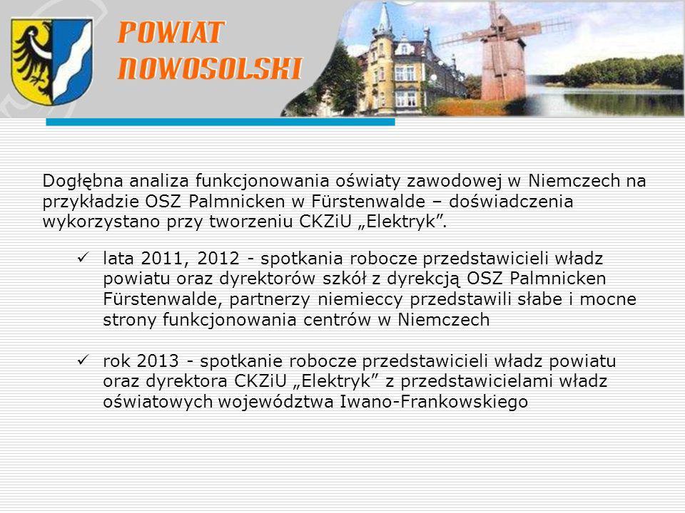 Dogłębna analiza funkcjonowania oświaty zawodowej w Niemczech na przykładzie OSZ Palmnicken w Fürstenwalde – doświadczenia wykorzystano przy tworzeniu