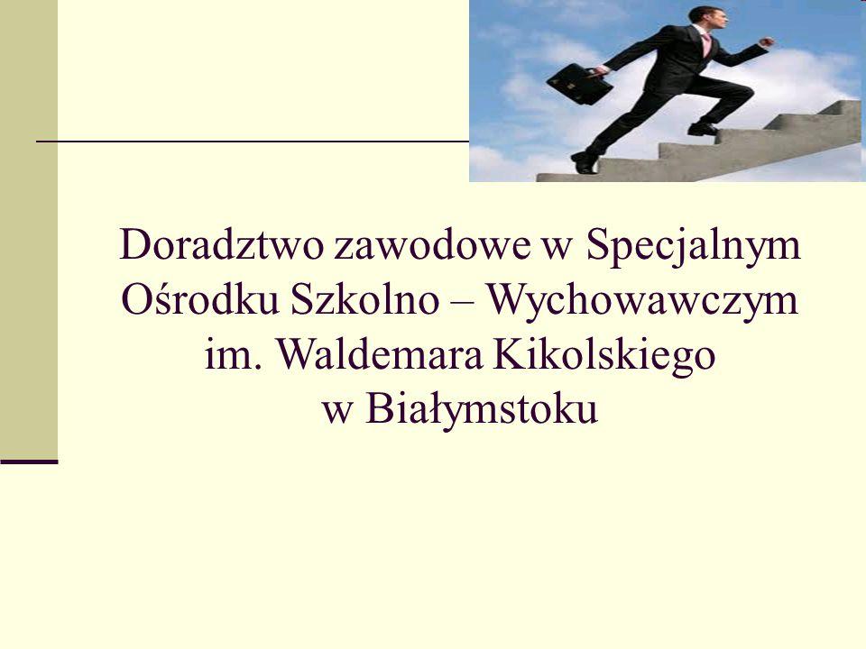 Doradztwo zawodowe w Specjalnym Ośrodku Szkolno – Wychowawczym im. Waldemara Kikolskiego w Białymstoku