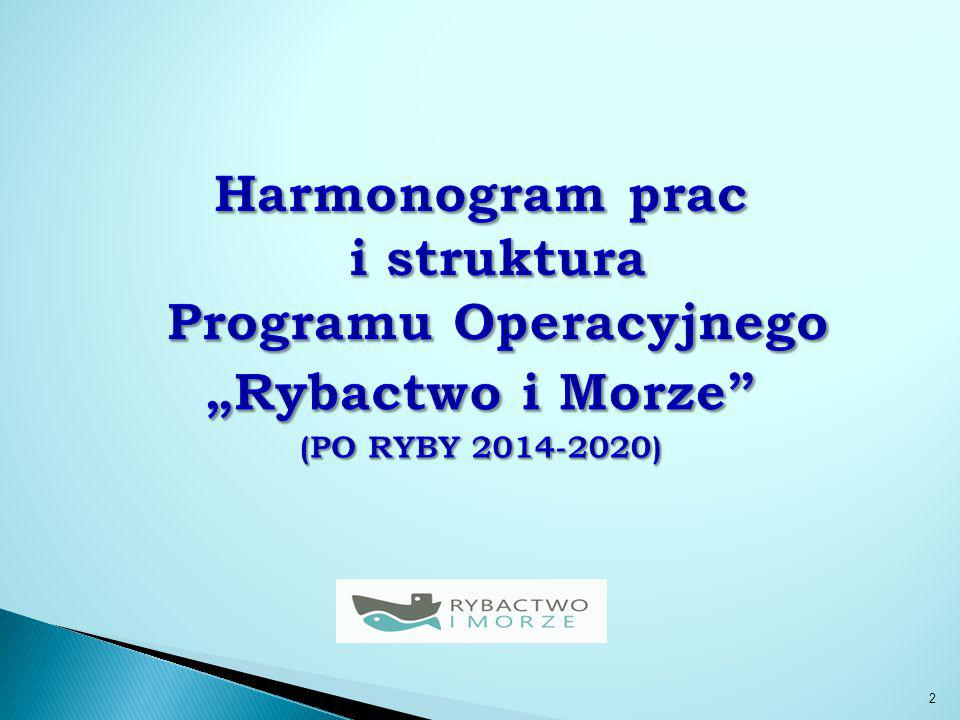 Harmonogram prac nad PO RYBY 2014-2020:  2 grudnia 2011 r.