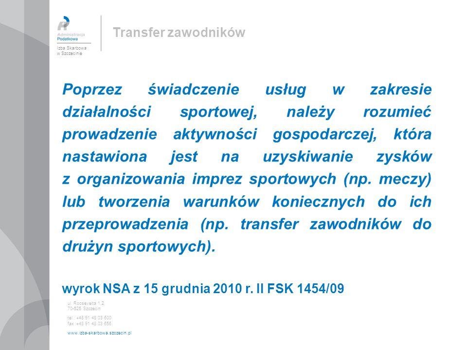 Poprzez świadczenie usług w zakresie działalności sportowej, należy rozumieć prowadzenie aktywności gospodarczej, która nastawiona jest na uzyskiwanie