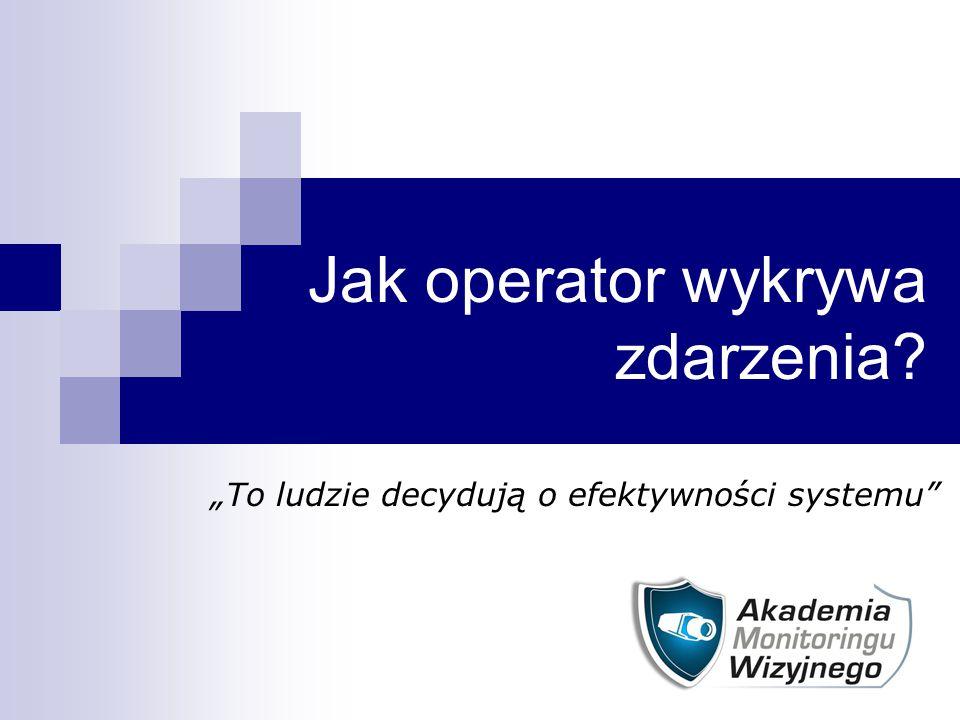 """Jak operator wykrywa zdarzenia? """"To ludzie decydują o efektywności systemu"""""""