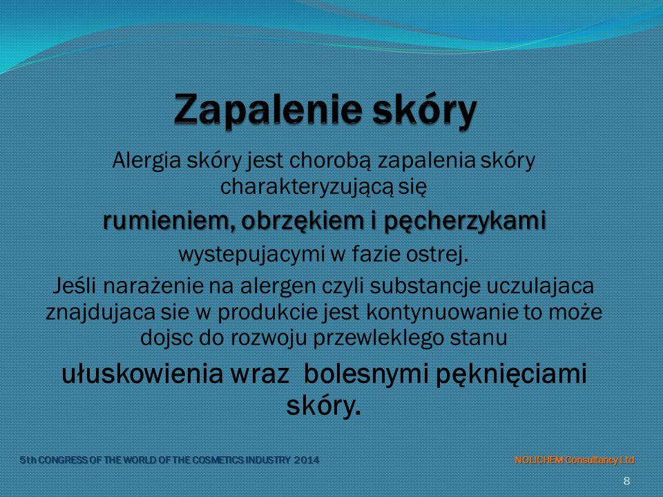 Alergia skóry jest chorobą zapalenia skóry charakteryzującą się rumieniem, obrzękiem i pęcherzykami wystepujacymi w fazie ostrej.