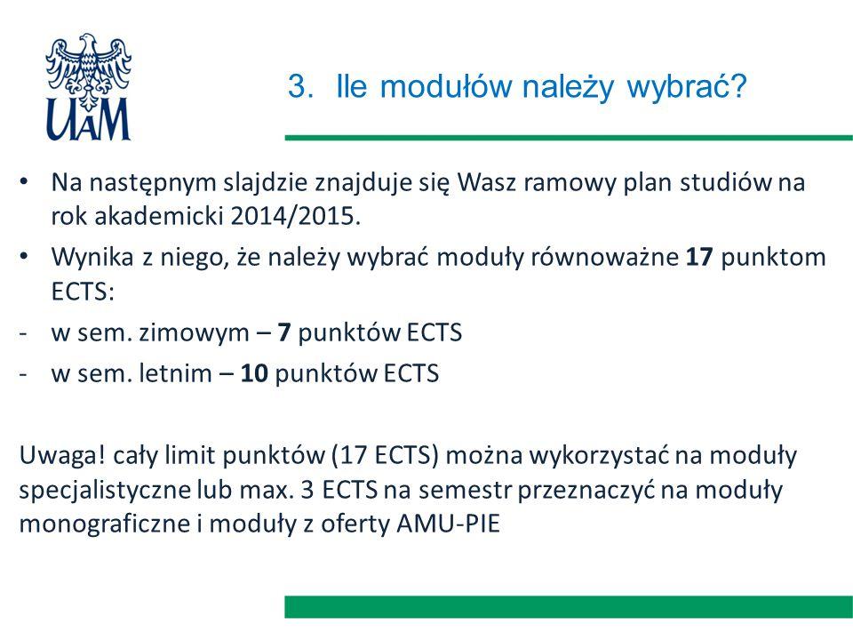 Biologia – plan studiów II stopnia; II rok Stopień.