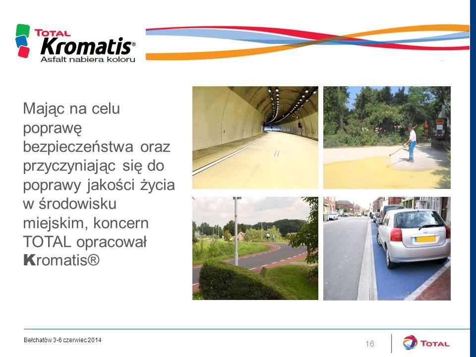 Mając na celu poprawę bezpieczeństwa oraz przyczyniając się do poprawy jakości życia w środowisku miejskim, koncern TOTAL opracował K romatis® 16 Bełchatów 3-6 czerwiec 2014