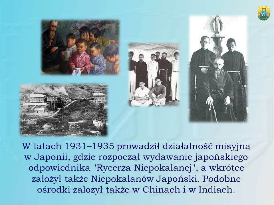 W latach 1931–1935 prowadził działalność misyjną w Japonii, gdzie rozpoczął wydawanie japońskiego odpowiednika