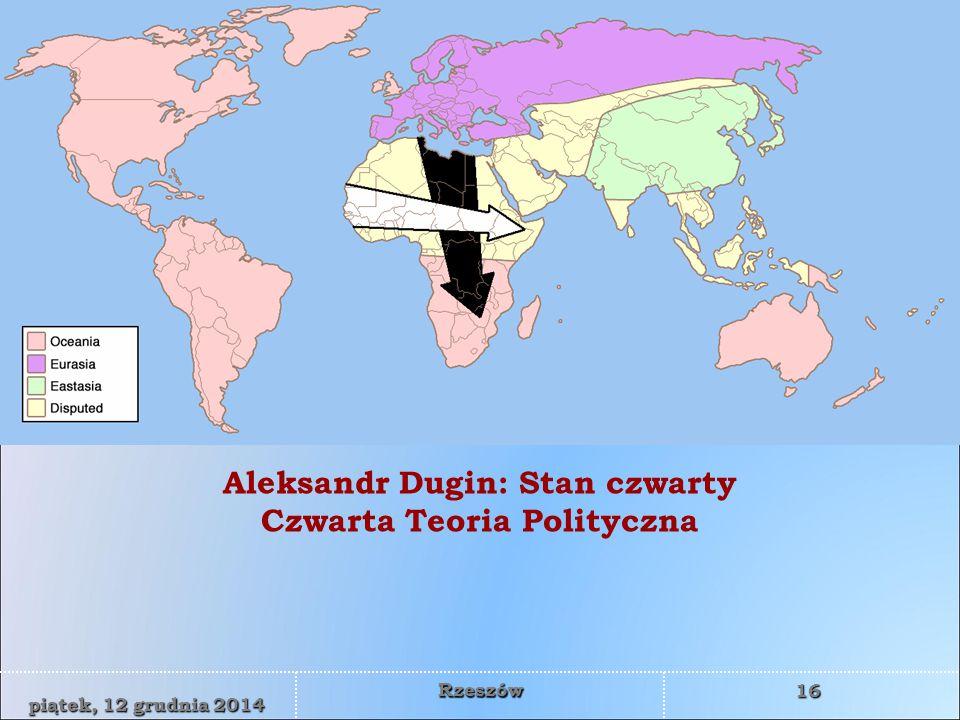 WYŻSZA SZKOŁA INFORMATYKI I ZARZĄDZANIA z siedzibą w Rzeszowie 16 piątek, 12 grudnia 2014piątek, 12 grudnia 2014piątek, 12 grudnia 2014piątek, 12 grudnia 2014 Rzeszów Aleksandr Dugin: Stan czwarty Czwarta Teoria Polityczna