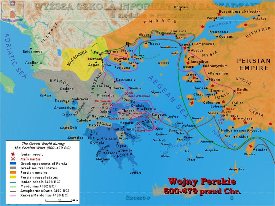 WYŻSZA SZKOŁA INFORMATYKI I ZARZĄDZANIA z siedzibą w Rzeszowie 6 piątek, 12 grudnia 2014piątek, 12 grudnia 2014piątek, 12 grudnia 2014piątek, 12 grudnia 2014 Rzeszów Wojny Perskie 500-479 przed Chr.