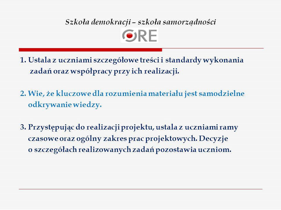 Szkoła demokracji – szkoła samorządności 1.